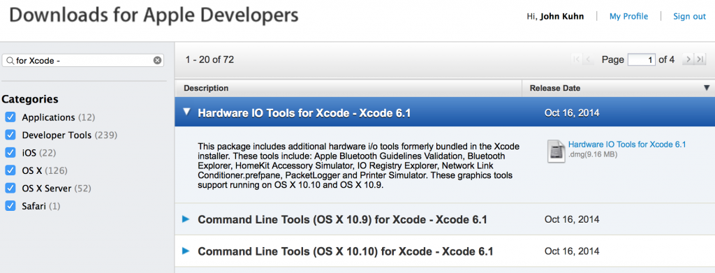 hardware io tools for Xcode