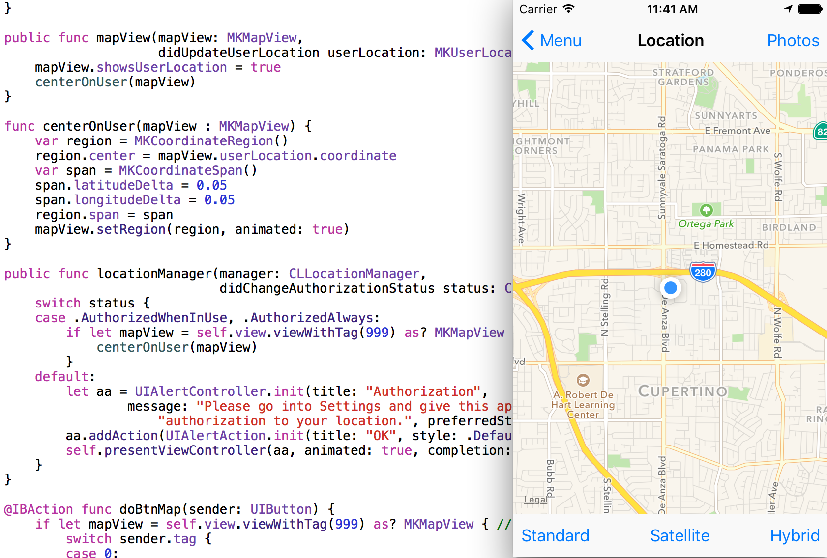 map view uiviewcontroller extension