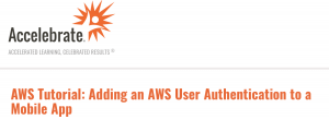 AWS User Authentication Tutorial