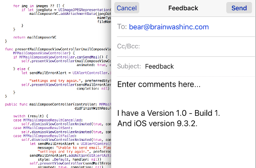 extension to compose email swift